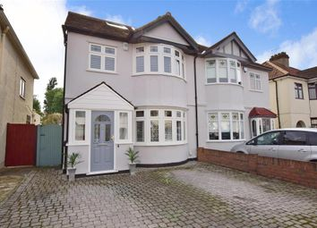 Thumbnail 4 bed semi-detached house for sale in Warriner Avenue, Hornchurch, Essex