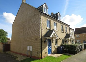 Thumbnail 3 bed town house for sale in George Alcock Way, Farcet, Peterborough
