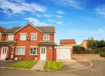 Thumbnail 3 bed semi-detached house for sale in Hawthorn Road, Widdrington, Morpeth