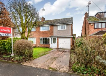 Thumbnail 3 bed semi-detached house for sale in Porlock Avenue, Baswich, Stafford