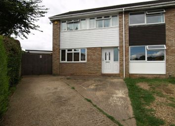 Thumbnail 3 bed semi-detached house for sale in Shelley Close, Newport Pagnell, Buckinghamshire