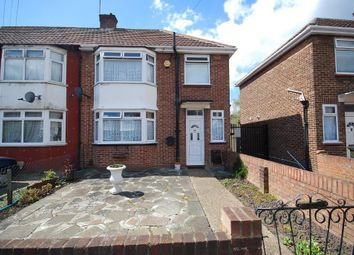 Thumbnail 3 bed end terrace house to rent in Crabtree Avenue, Wembley, Middlesex