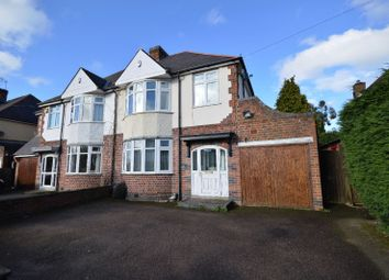 Thumbnail 3 bed semi-detached house for sale in Harborough Road, Oadby, Leicester