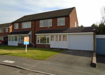 Thumbnail 3 bed semi-detached house for sale in Wesley Crescent, Shifnal