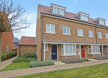 Thumbnail 4 bed end terrace house for sale in Wagtail Walk, Finberry, Ashford