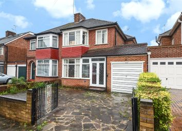 Thumbnail 3 bed semi-detached house for sale in Wemborough Road, Stanmore, Middlesex