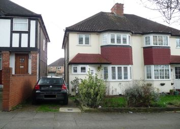 Thumbnail 4 bedroom semi-detached house to rent in Oakington Manor Drive, Wembley