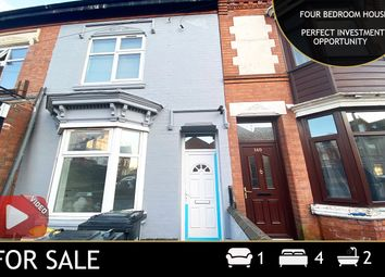 Thumbnail 4 bed terraced house for sale in Fosse Road North, Leicester