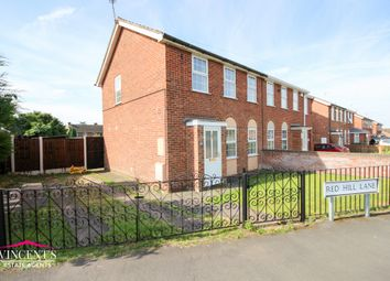 Thumbnail 3 bed semi-detached house for sale in Red Hill Lane, Leicester