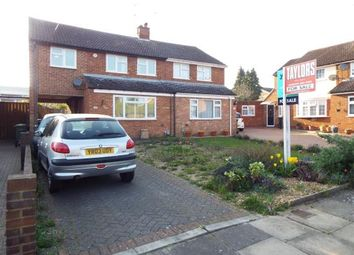 Thumbnail 3 bed semi-detached house for sale in Foston Close, Luton, Bedfordshire