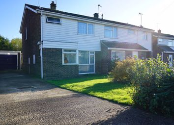 Thumbnail 3 bedroom semi-detached house for sale in Ermine Way, Sawtry, Huntingdon.
