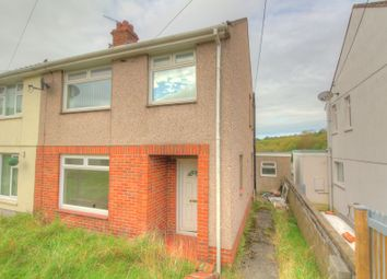 Thumbnail 3 bed semi-detached house for sale in Rhyddwen Road, Craig-Cefn-Parc, Swansea