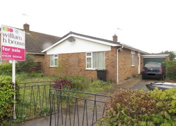 Thumbnail 3 bed bungalow for sale in Springfield Road, Ruskington, Sleaford