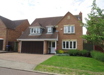 Thumbnail 4 bed detached house for sale in Portwey Close, Brixworth, Northampton