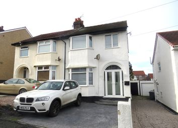 Thumbnail 3 bed semi-detached house for sale in Broxton Avenue, West Kirby, Wirral