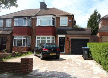 Thumbnail 3 bed semi-detached house to rent in Clifton Gardens, Enfield