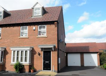 Thumbnail 3 bedroom semi-detached house for sale in Columbus Lane, Earl Shilton, Leicester