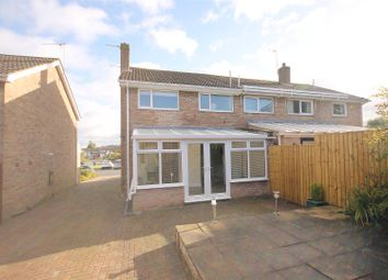 Thumbnail 3 bed semi-detached house for sale in Devon Close, Grassmoor, Chesterfield
