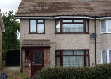 Thumbnail 3 bed semi-detached house to rent in Sowrey Avenue, Elm Park