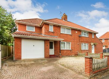 Thumbnail 4 bed semi-detached house for sale in Leman Close, Loddon, Norwich