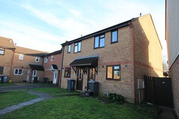 Thumbnail 2 bed semi-detached house to rent in Kingfisher Drive, Westbury, Wiltshire