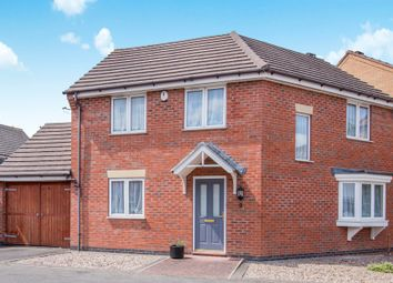Thumbnail 3 bed detached house for sale in Loughland Close, Blaby, Leicester