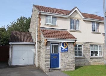 Thumbnail 3 bedroom semi-detached house for sale in Caer Worgan, Llantwit Major