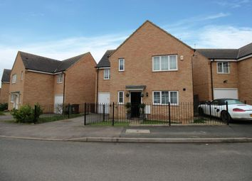 Thumbnail 4 bed detached house for sale in Flycatcher Road, Corby