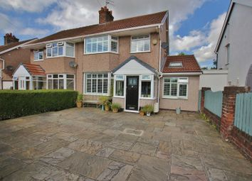 Thumbnail 4 bed semi-detached house for sale in Downham Drive, Heswall, Wirral