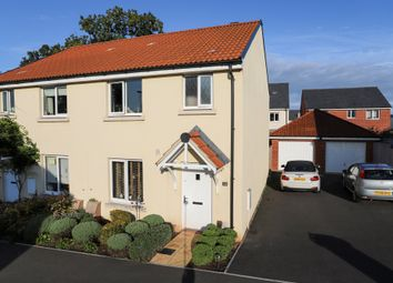 Thumbnail 3 bedroom semi-detached house for sale in Shareford Way, Cranbrook, Exeter