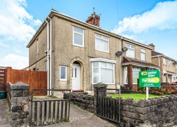 Thumbnail 3 bed semi-detached house for sale in Mynydd Newydd Road, Caereithin, Swansea