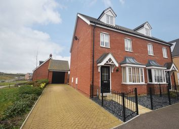 Thumbnail 3 bed semi-detached house for sale in Matilda Groome Road, Hadleigh, Ipswich