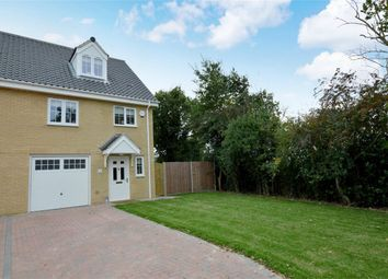 Thumbnail 3 bed end terrace house for sale in Wellesley Close, Poringland, Norwich, Norfolk