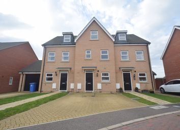 Thumbnail 3 bed terraced house to rent in Alice Parkins Close, Hadleigh, Ipswich