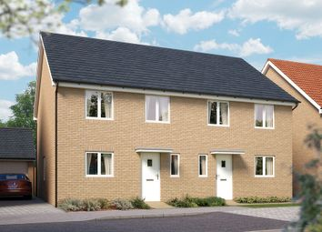"Thumbnail 4 bed semi-detached house for sale in ""The Salisbury"" at Valerian Gardens, Soham, Ely"