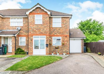 Thumbnail End terrace house for sale in Regent Close, Merstham, Redhill