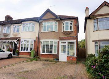 Thumbnail 3 bedroom end terrace house for sale in Carlton Road, Romford