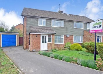 Thumbnail 3 bed semi-detached house for sale in Honeywood Road, Horsham, West Sussex