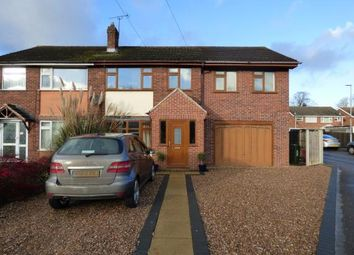 Thumbnail 4 bedroom semi-detached house for sale in Meadow Close, Stoney Stanton, Leicester, Leicestershire