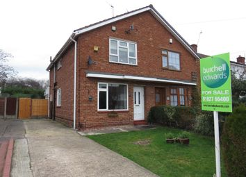 Thumbnail 2 bed semi-detached house for sale in Deer Park Road, Fazeley, Tamworth