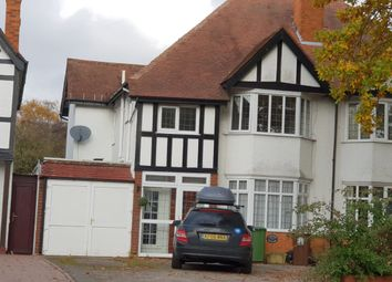 Thumbnail 3 bed semi-detached house to rent in Solihull Road, Birmingham