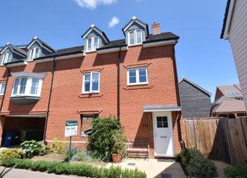 Thumbnail 3 bedroom end terrace house for sale in Jubilee Drive, Church Crookham, Fleet