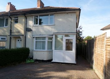 Thumbnail 3 bed end terrace house to rent in Cleeve Road, Yardley Wood, Birmingham