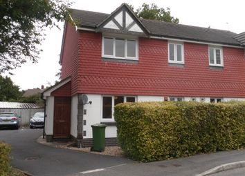 Thumbnail 1 bed terraced house to rent in Haining Gardens, Mytchett, Camberley
