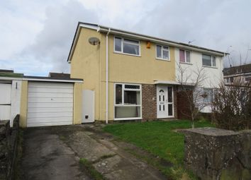 Thumbnail 3 bed semi-detached house for sale in Caerllysi, Pencoed, Bridgend
