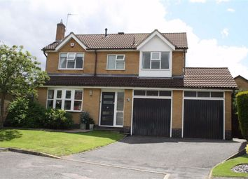 Thumbnail 4 bed detached house for sale in Carpenters Close, Glenfield, Leicester