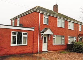 Thumbnail 3 bed semi-detached house to rent in Abbey Crescent, Swineshead, Boston