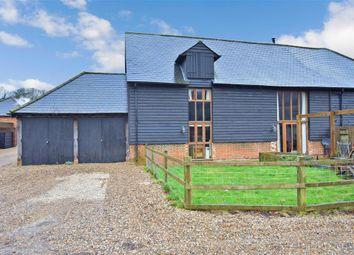 Thumbnail 4 bed barn conversion for sale in Church Lane, Waltham, Canterbury, Kent