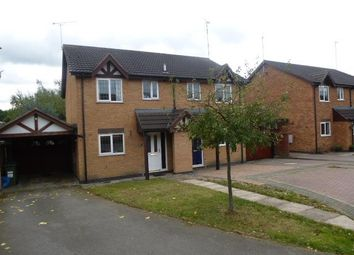 Thumbnail 3 bedroom semi-detached house to rent in Wightman Close, Stoney Stanton, Leicester