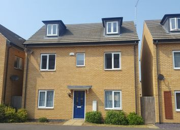 Thumbnail 4 bed detached house for sale in Woodward Drive, Gunthorpe, Peterborough